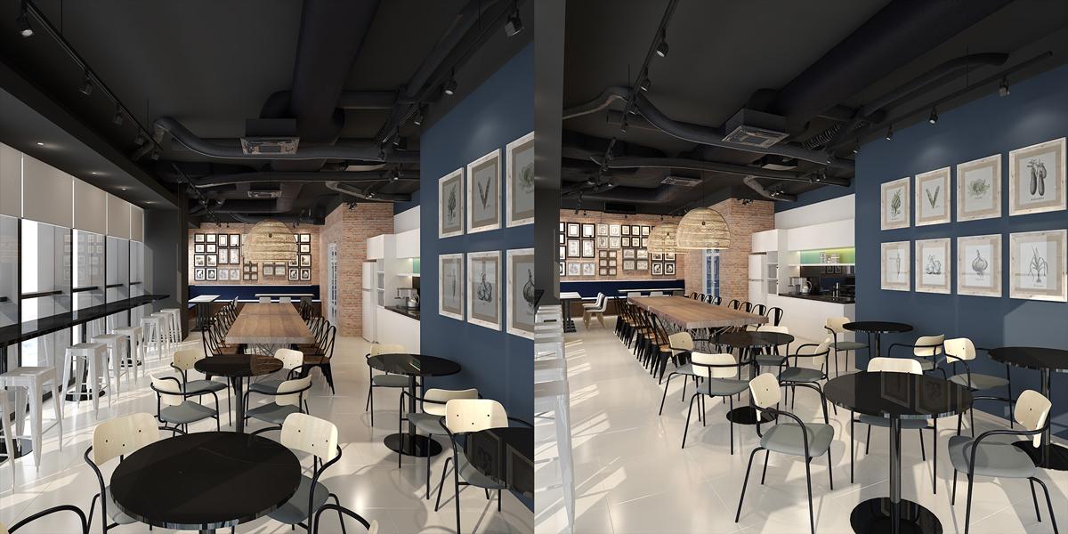 Phòng ăn uống và nghỉ trưa được trang bị đầy đủ thiết bị cho nhân viên (thiết kế bởi ARC DECOR)