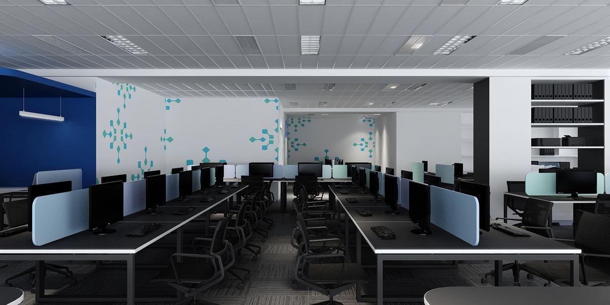 Phòng làm việc được thiết kế đơn giản hài hoà(thiết kế bởi ARC DECOR)